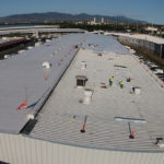 commercial roofing of metal wharehouses