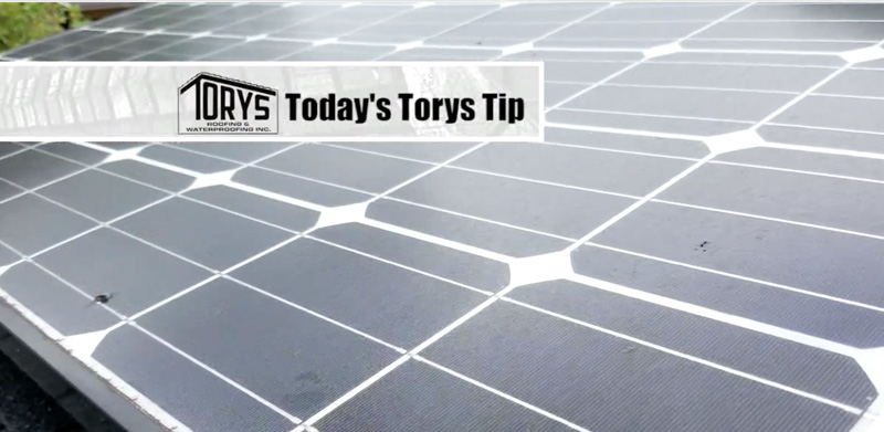 torys roofing tip, consult before installing solar panels